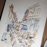 Cour cheverny aquarelle 2