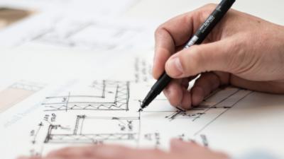 réalisation vue en plan d'aménagement intérieur