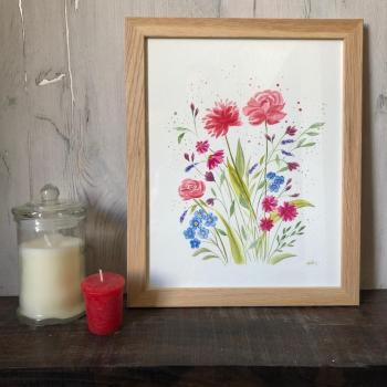 peinture fleurs sauvages