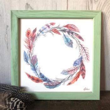 peinture couronne plumes