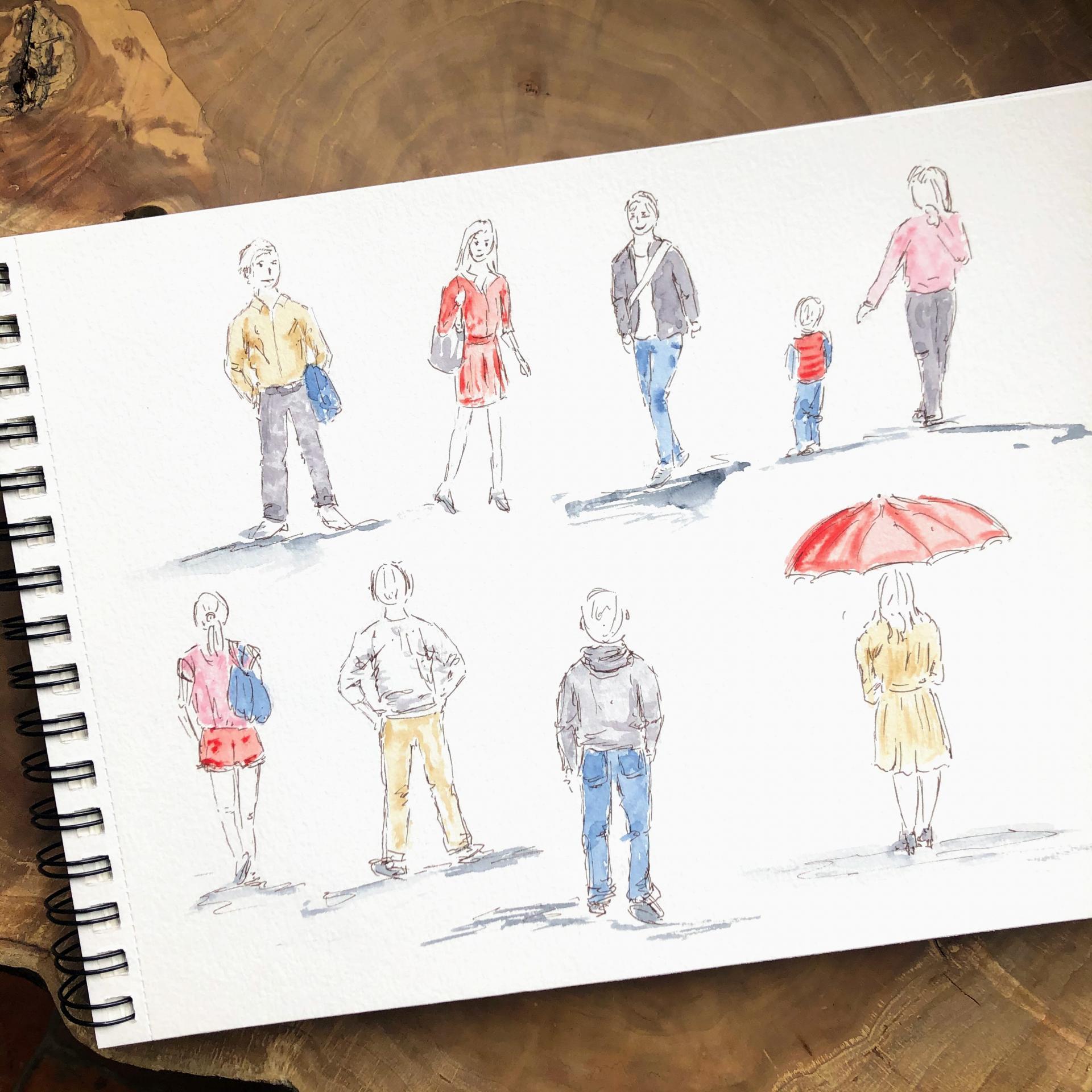 Stage dessin et aquarelle personnages