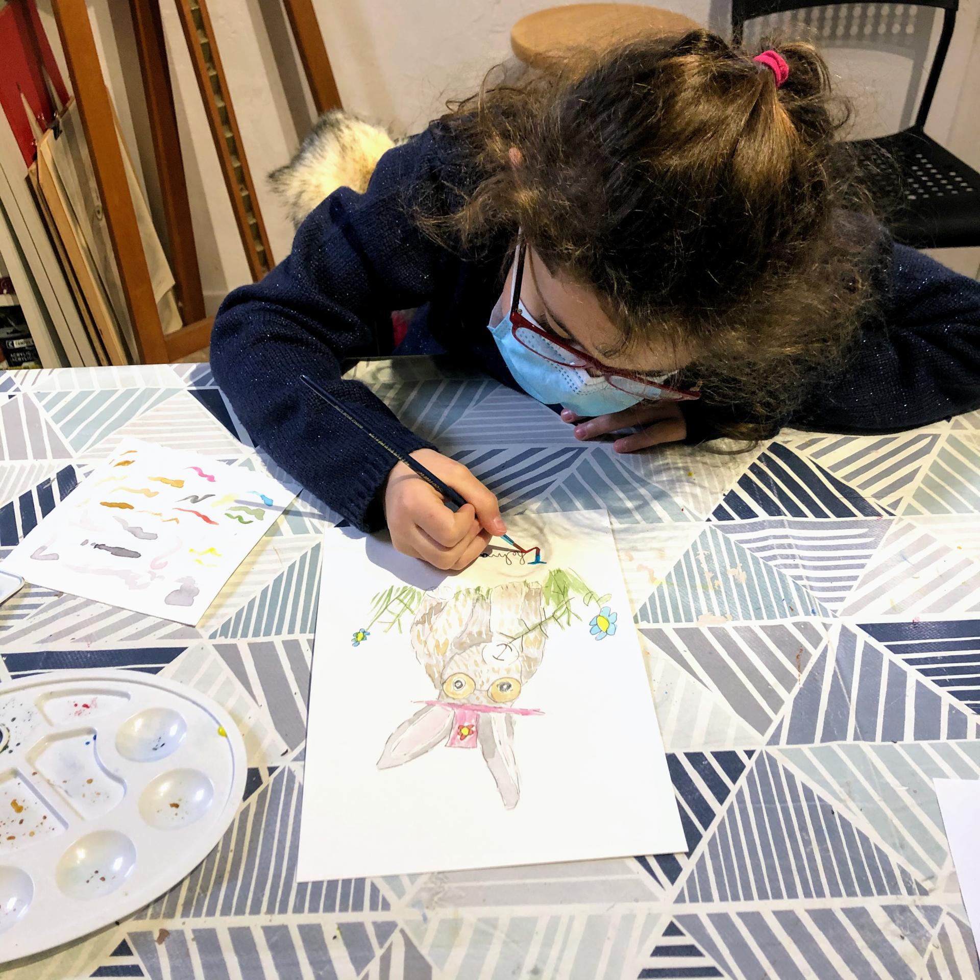 Cours enfant dessin et peinture
