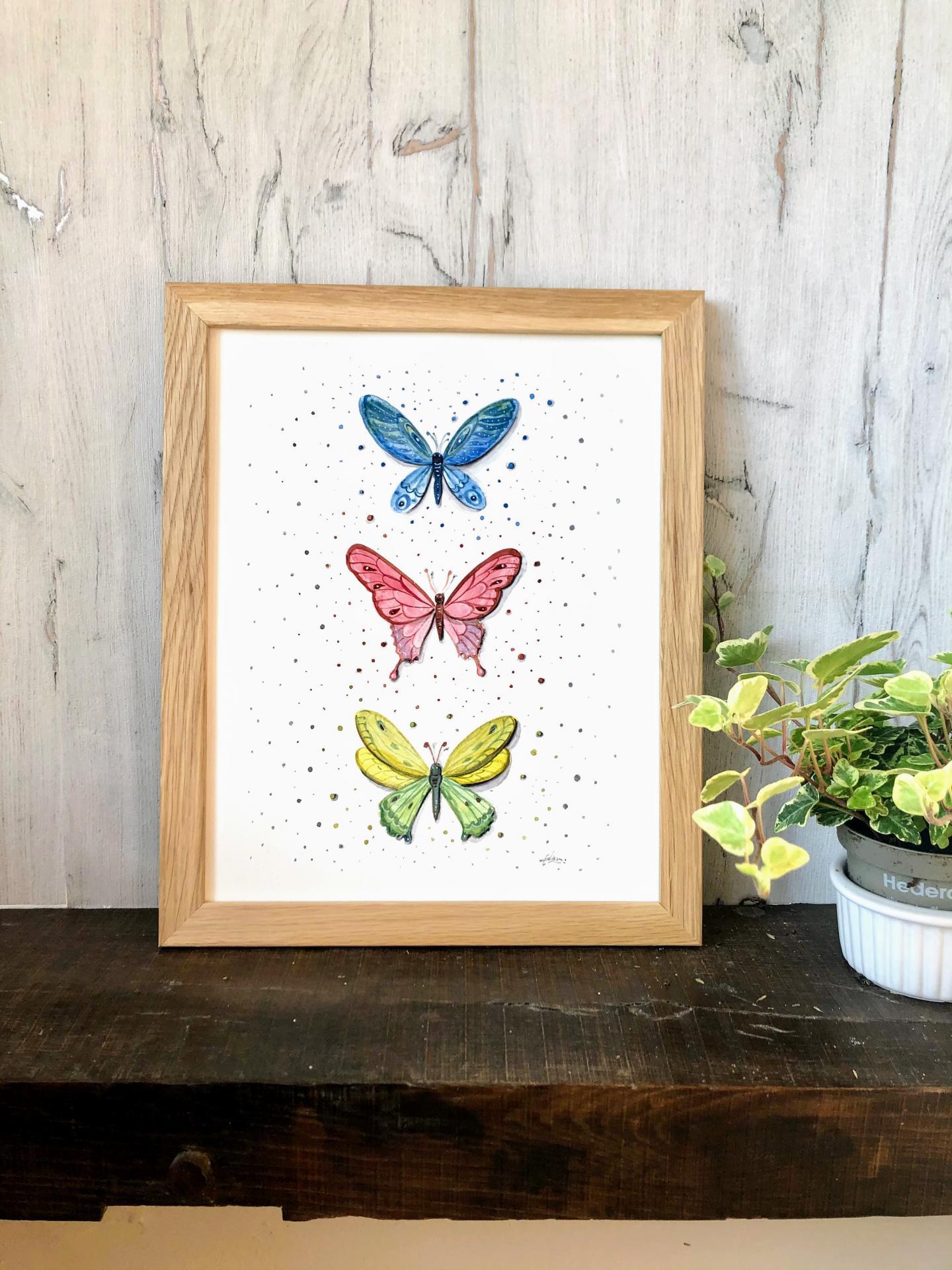 Décoration papillons colorés