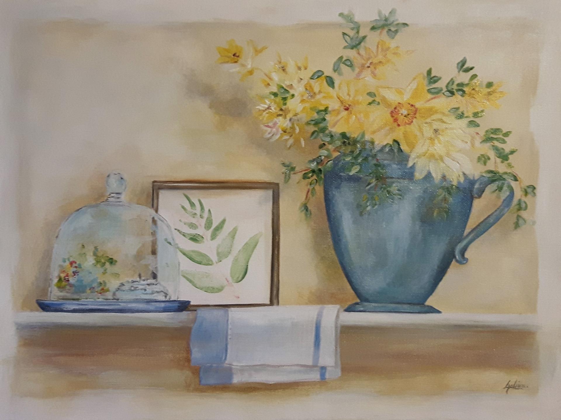 Décoration en bleu et jaune