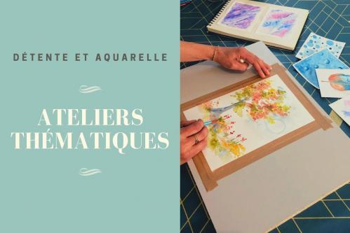 cours aquarelle abstraite