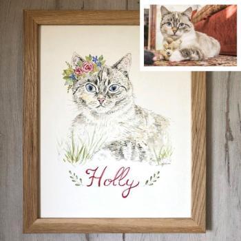 portrait chat peint
