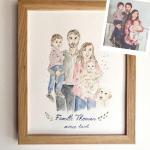 peinture portrait de famille